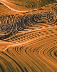 orange and black swirls